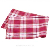 Tea Towel - Plaid Hot Pink