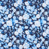 Maison Des Fleurs - Fleur de Jardin Blue Yardage