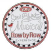 Row by Row 2018 Souvenir Round Pin