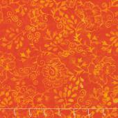 Parfait Batiks - Tangerine Sprigs Yardage