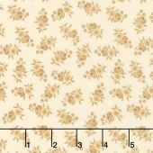 Nancy's Needle 1850-1880 - Prairie Flowers Light Cream Yardage