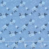 Blue Stitch - Ditzy Blue Yardage
