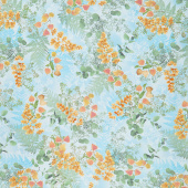 Magnolia - Layered Ferns Mist Yardage