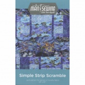 Simple Strip Scramble Quilt Pattern from Man Sewing