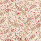 Zellie Ann - Floral Paisley Butter Yardage