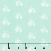 Cozy Cotton Flannels - Mint Bicycles Seafoam Yardage
