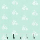 Cozy Cotton Flannels - Mint Bicycles Seafoam Yardage