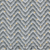 Floral Hues - Chevron Gray Cotton Lawn Yardage