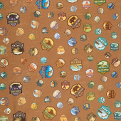 National Parks - Patches Light Brown Yardage