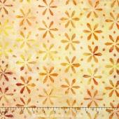 Tonga Batiks - Vineyard Set Flower Stamp Tangy Yardage