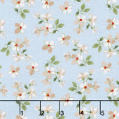 Farmhouse Floral - Toss Blue Yardage