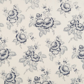 Abigail Blue - Large Floral Cream Yardage
