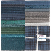 "Woolies Flannel Stormy Seas 10"" Squares"