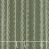 Lake Views - Patterned Stripe Moss Green Yardage