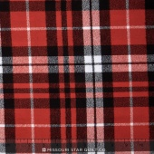 Mammoth Flannel - Plaid Scarlet Yardage