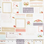Rustic Elegance - Labels White Yardage