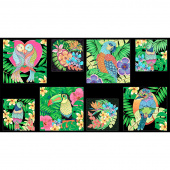 Tropical Flair - Bird Craft Multi Panel