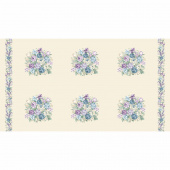 Twilight Garden - Bouquet Linen Panel