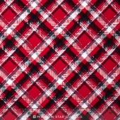 Scottie Love - Pet Plaid Red Yardage