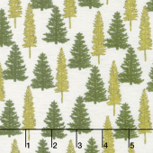 Explore - Woodland Trees Birch White Yardage