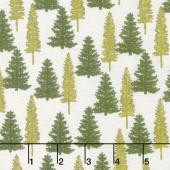 Explore - Woodland Trees Birch White Yardage