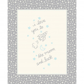 Soft & Sweet - Grey To The Moon Grey Flannel Panel