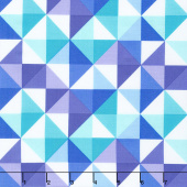 Confetti - Half Square Triangles Blue & Purple Yardage