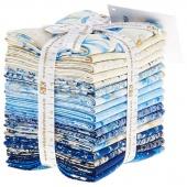 Holiday Flourish 10 Blue Metallic Fat Quarter Bundle