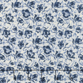 Abigail Blue - Packed Floral Cream Yardage