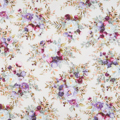 Lilac & Sage - Bouquet Silver Copper Pearl Metallic Yardage