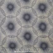 Nature's Pearl - Dandelion Dots Black/Pearl Pearlized Yardage
