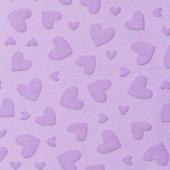 "Cuddle Embossed Heart - Lilac 60"" Minky Yardage"
