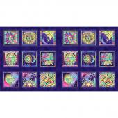 Celestial Magic - Block Dark Purple Metallic Panel