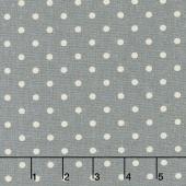 Linen Mochi Dot - Dot Graphite Linen Yardage