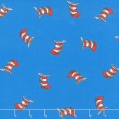 The Cat in the Hat - Hats Blue Yardage