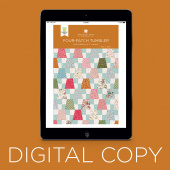 Digital Download - Four-Patch Tumbler Quilt Pattern by Missouri Star