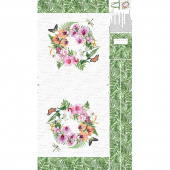 Orchids in Bloom - Tote White Multi Canvas Panel