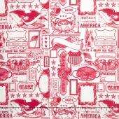 Lost and Found America - Americana Main Red Yardage