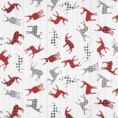 I'll be Home for Christmas - Deer Check Multi Yardage