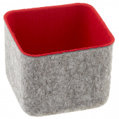 Felt Square Storage Bin - Red