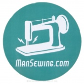 Man Sewing Magnet - Sewing Machine Blue
