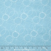 Wing & Leaf - Ring Toss Periwinkle Yardage
