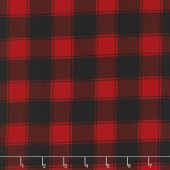 Christmas Cabin - Buffalo Check Red Yardage