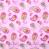 Rainbow Seeds - Paisley Purple Yardage