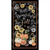 Gather Here - Hello Beautiful Fall Black Panel