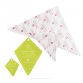 Missouri Star Periwinkle Templates & Triangle Piecing Papers Bundle (4 pcs)