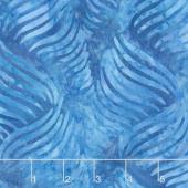 Malam Batiks V - Ribbon Medium Blue Yardage