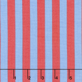 Tula Pink's All Stars - Pom Poms & Stripes Tent Stripe Lupine Yardage