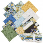 Avery Hill Blue Metallic Fat Quarter Bundle