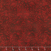 "Winter Village - Winter Lace Cherry 108"" Wide Backing"